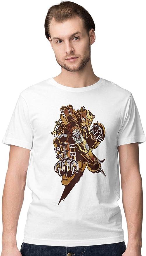 BLAK TEE Hombre Metal Steampunk Tiger Camiseta: Amazon.es: Ropa y accesorios