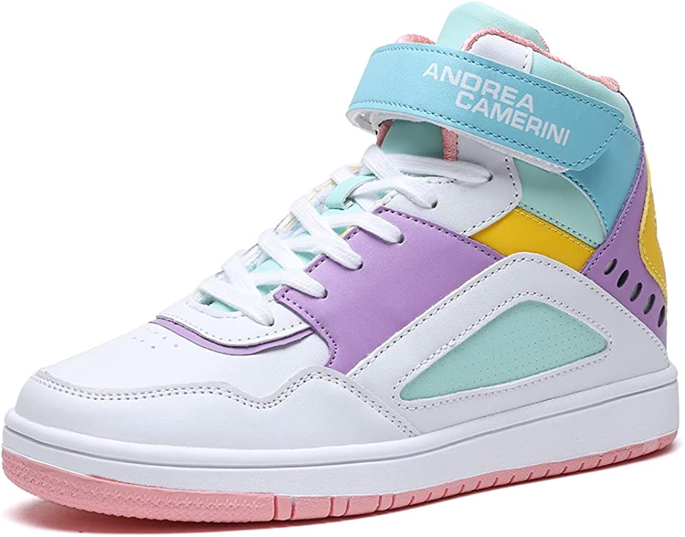 ANDREA CAMERINI Women's Fashion Sneakers Top We Genuine High material Hell Hidden