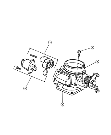 Amazon Com Mopar 5300 7543ab Fuel Injection Throttle Body Mounting