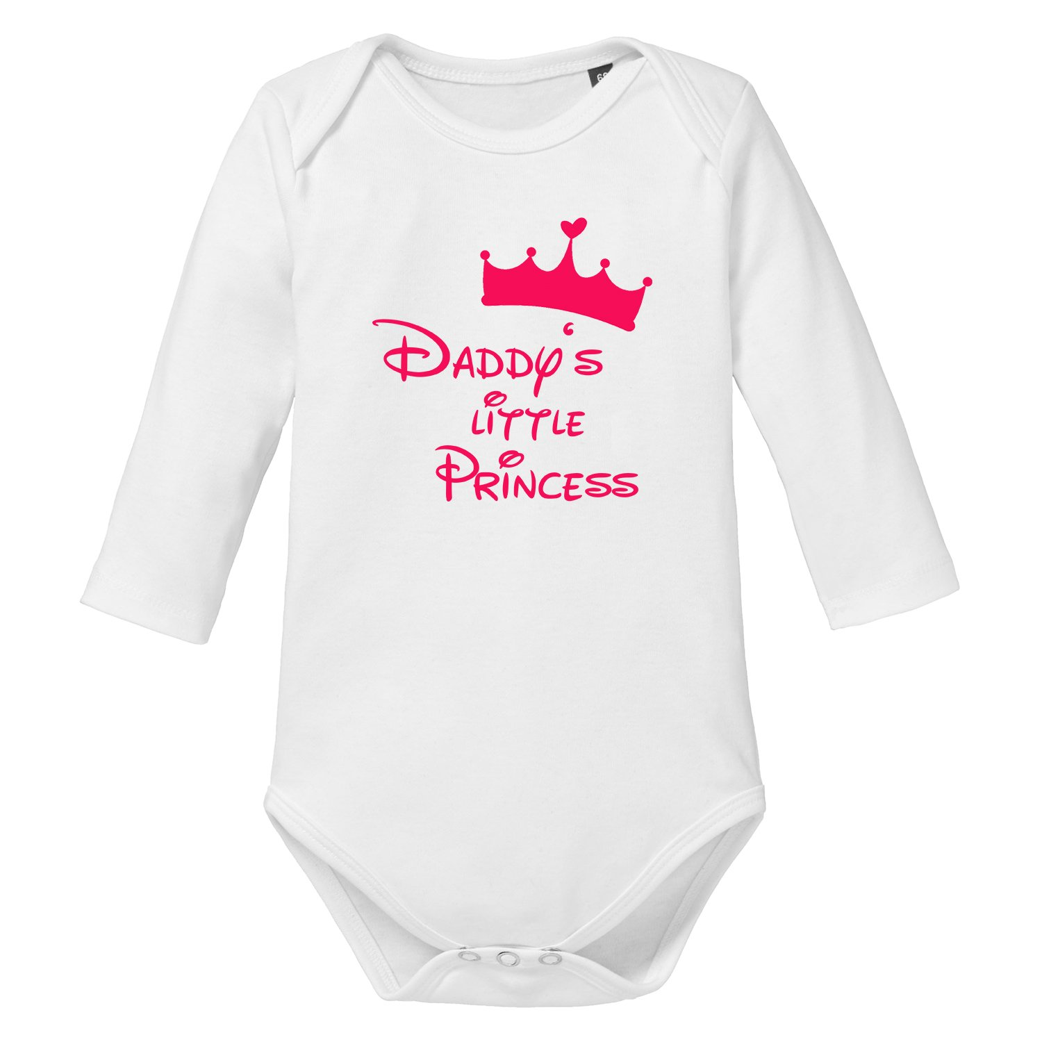 LittleBigFamily - Daddy's Little Princess - Baby Body Longsleeve Grau 00-02 Monate