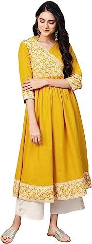 Hiral Designer Mall Women Designer Anarkali A-Line Cotton Rayon Kurta Kurtis Straight Top Tunic Read…