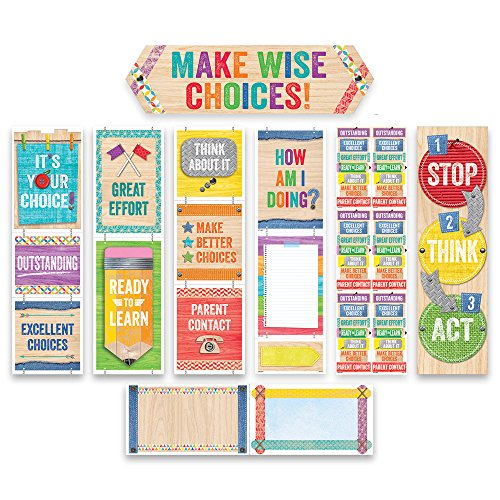 Creative Teaching Press Upcycle Style Behavior Clip Chart Mini Bulletin Board (1757)]()
