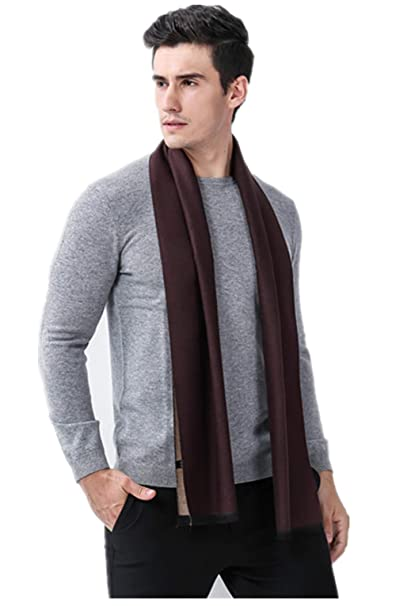 2384edca8f Mens Soft Scarf For Autumn And Winter-Classic Business Casual Warm Men  Scarf (Brown