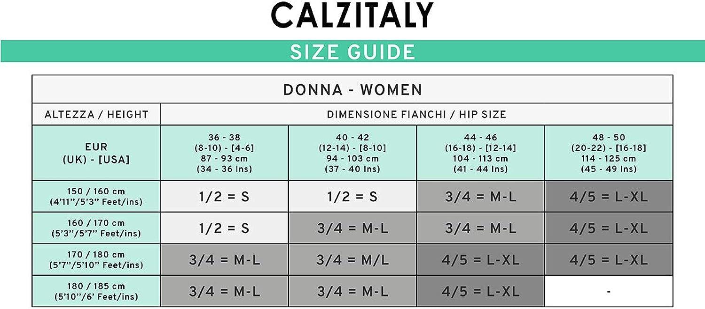L//XL 15 DEN Bleu Naturel S M//L Collant No Couture avec Pois Noir CALZITALY Collants Voiles sans Coutures Fabriqu/é en Italie