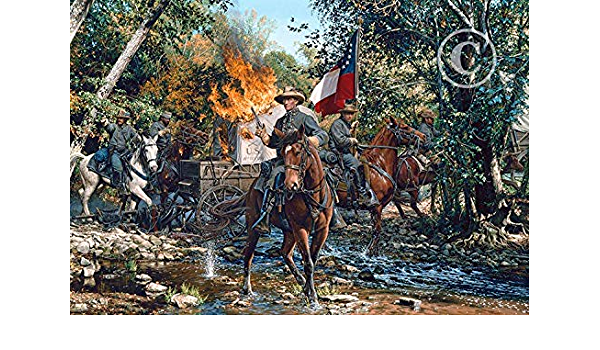 """signed studio canvas giclee /""""Fire In the Valley/"""" By John Paul Strain"""