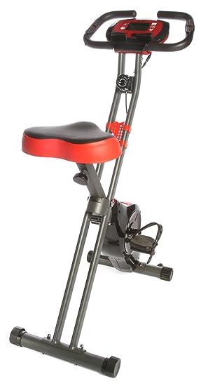 Ejercicio vertical magnético ciclismo bicicleta Fitness máquina plegable con sensores de pulso y pantalla LCD Max