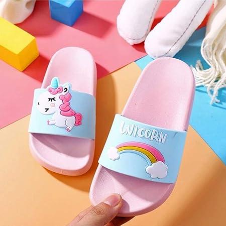 Unicornio Zapatillas para Niño Y Niña del Unicornio para Los Niños De Dibujos Animados De Interior Zapatillas De Playa De Verano Piscina Zapatillas
