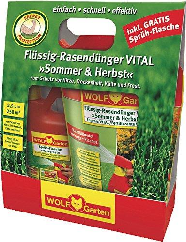 Wolf Flüssig-Rasendünger ''VITAL Sommer & Herbst'' LV250R, 2,5L