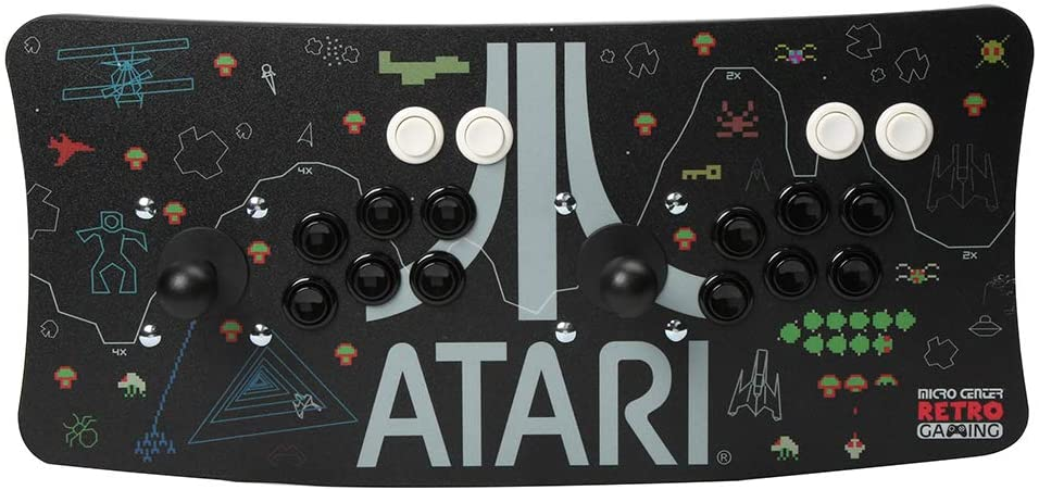 Atari Arcade Fightstick USB Dual Joystick 2 Player Game Controller for PC Mac Raspberry Pi Console Older Xbox PS3