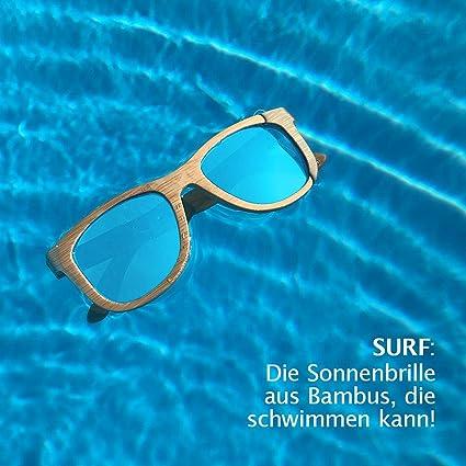 WOLA rettangolare estilo occhiali da sole in bambù SURF
