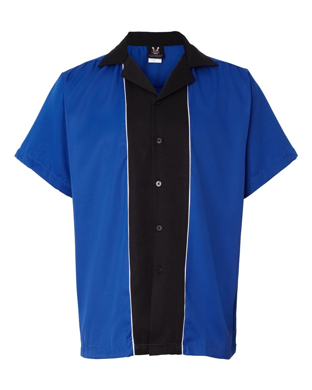 Hilton Men's Retro Quest Bowling Shirt, Royal/ Black, XXX-Large by Hilton