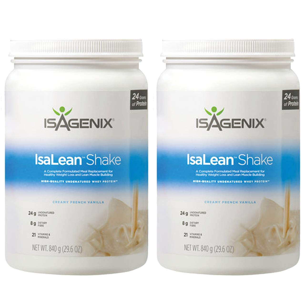 Isagenix Isalean Creamy French Vanilla Shake Combo 29.1oz Canisters (2 Pack) by Isa Shakes Combo (Image #1)