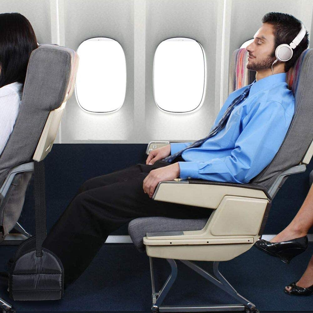 ZODAE Airplane Footrest Airplane Foot Hammock with Memory Foam for Flight Bus Train Office Home Prevent Swelling and Soreness Airplane Travel Accessories Provides Relaxation and Comfortable