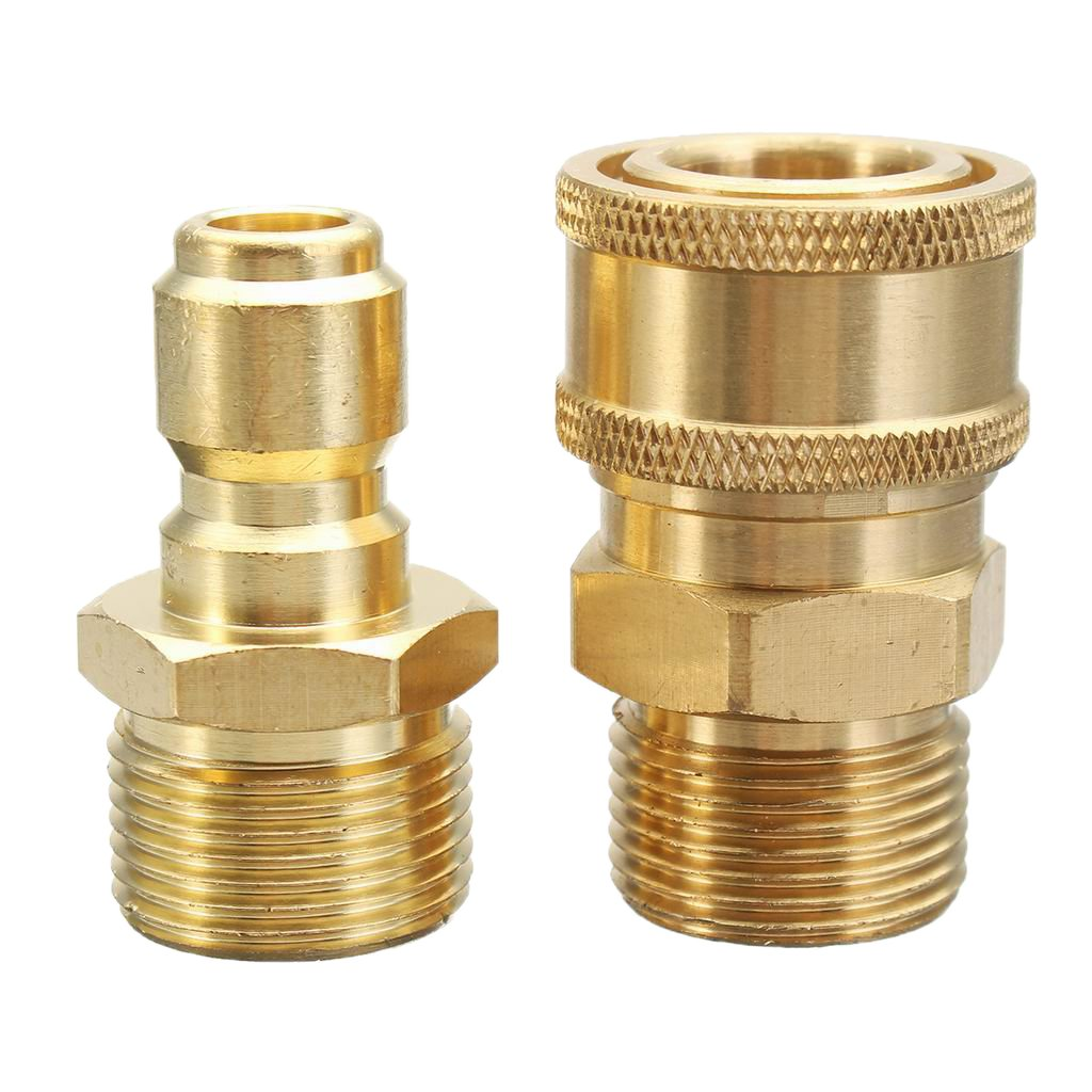 Homyl 1 Pair 3/8'' Quick Release Adapter Connect to M22 Metric Twist Pressure Washer