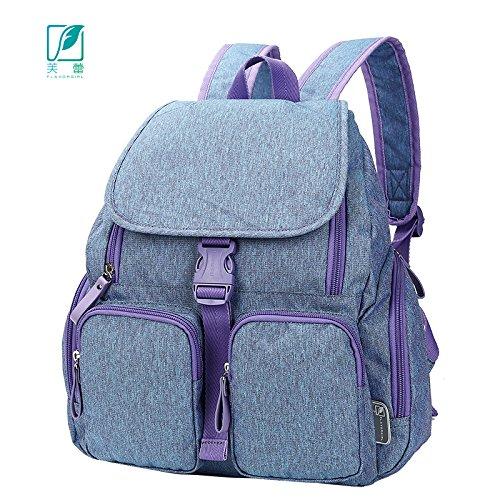 MLF-Cambio de pañal Pañales de bebé bolsa de gran capacidad de aislamiento térmico de mochila,cian Cyan