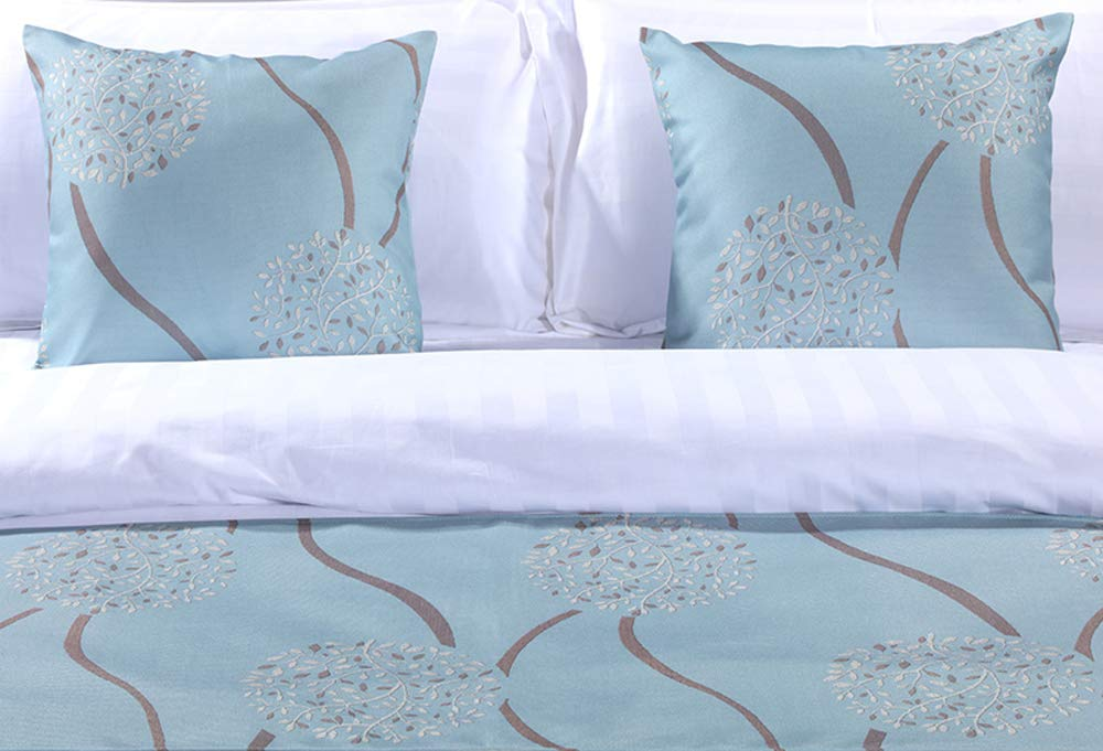 Mengersi Rippling Bed Runner Scarf Protector Slipcover Bed Decorative Scarf for Bedroom Hotel Wedding Room (King, Blue) by Mengersi (Image #3)