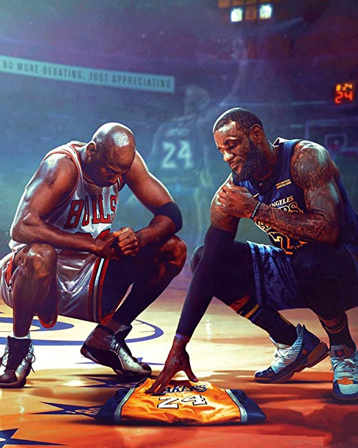 HandTao Kobe Bryant Basketball Star Fabric Cloth Wall Poster Photo Print 24x24 Inch