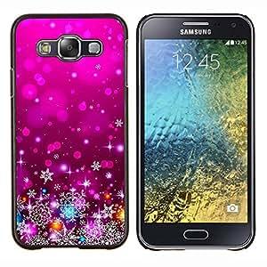 Púrpura de Navidad Navidad Decoración Luces- Metal de aluminio y de plástico duro Caja del teléfono - Negro - Samsung Galaxy E5 / SM-E500