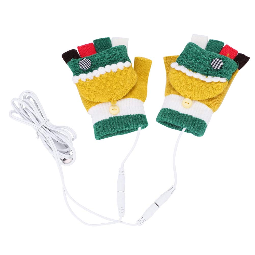 Tbest USB Heated Gloves 7.4V Windproof Winter Warm Heating Golves Cycling Warm Half and Full Finger Mittens 1 Pair (GS51 Series)(GS52 Women) by Tbest