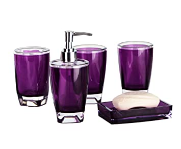 yiyida bathroom essentials set 5 piece bathroom accessories set tumbler soap dish