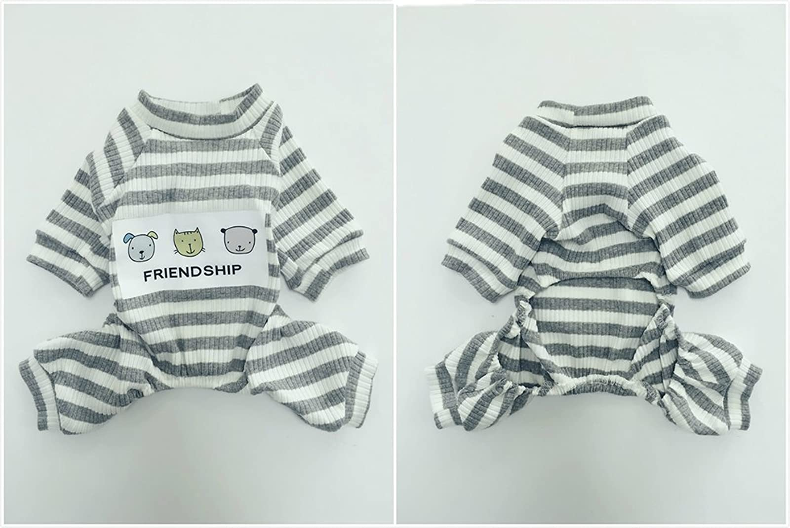 EastCities Dog ClothesSmall Dogs Puppy Pajamas OutfitGrey - 4