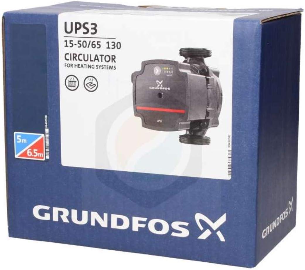 """New Model"" GRUNDFOS UPS3 15-50/65 Pump - Replaces UPS2 15-50/60"