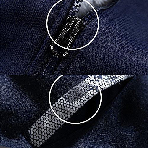 Homme Blouse Chaud Manteau Tops Épaissir Taille Fit Slim Longues Garment Hiver Sport Manche Bleu Grand Osyard Cwgxqt56w