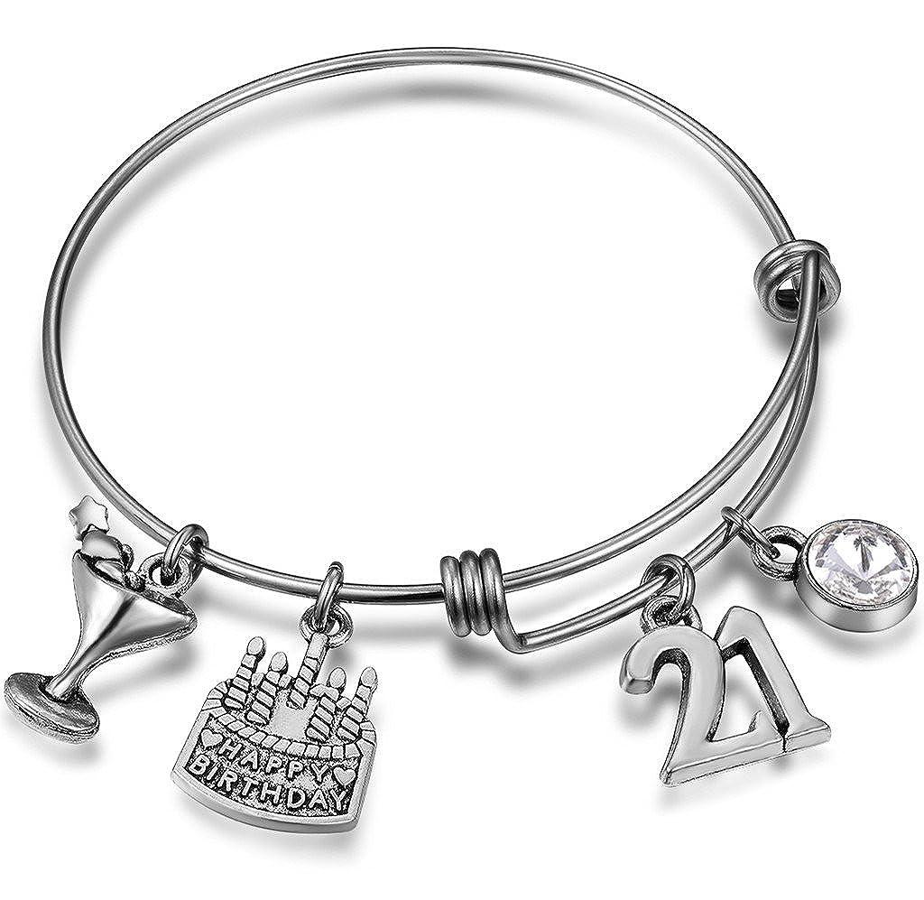21st Birthday Gift Birthday Gift for Friend Gift Idea for Her 21st Birthday Charm Bracelet Gift Ideas for 21st Birthday Turning 21 Gift