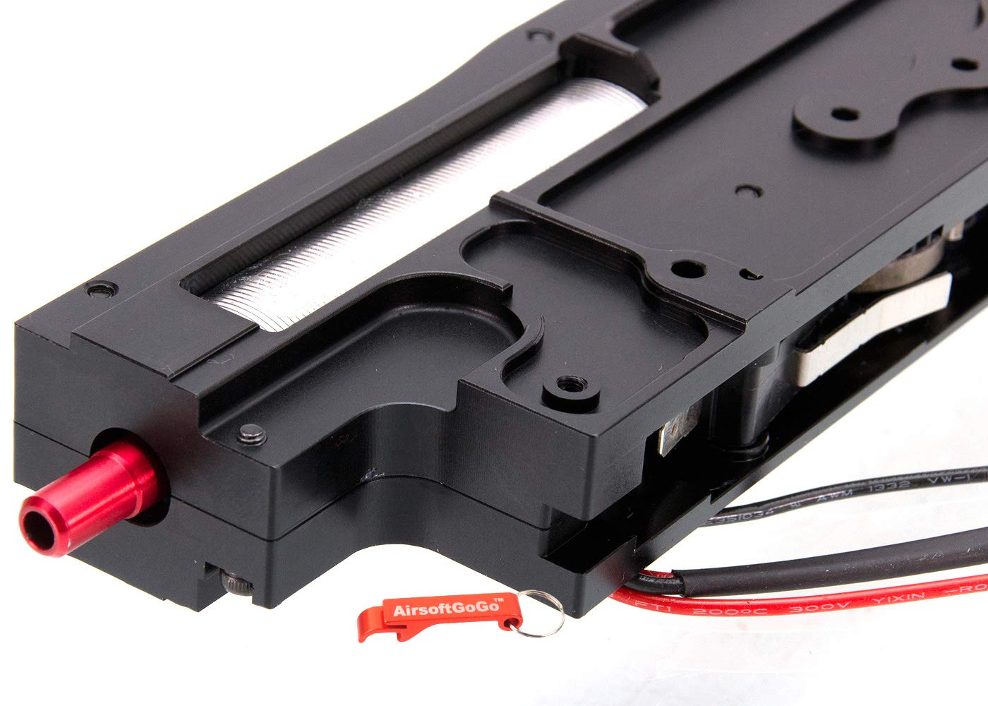 Schwarz Gearbox Komplett aus CNC Aluminium f/ür A/&K//Classic Army M249 Serie Softair AEG