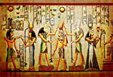 LFEEY 7x5ft Old Egypt Papyrus Backdrop Coloring Ancient Egyptian Parchment Vintage Wall Painting Antique Hieroglyphs Photography Background Cloth Vinyl Photo Studio Props