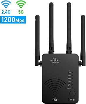 Amazon Com Wifi Range Extender 1200mbps Wifi Signal Booster Wifi Repeater With Ethernet Port For Home Router Extender For Wireless Internet 2 4g 5g Dual Band Wifi Amplifer Electronics