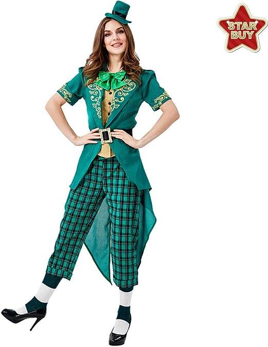 COSOER Viste A La Familia Alice Leprechaun Irish Dress Up Disfraz ...