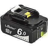 LiBatter 18V BL1860 6.0Ah 6000mAh マキタ互換バッテリー BL1830 BL1850 BL1860 リチウムイオン 1年間保証