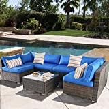 Patio Furniture Sofa Outside Couch PE Black
