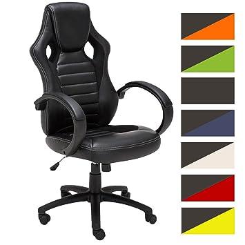CLP Silla Racing Speed en Cuero Sintético I Silla Gaming Regulable en Altura I Silla de Oficina con Ruedas I Color: Negro: Amazon.es: Hogar