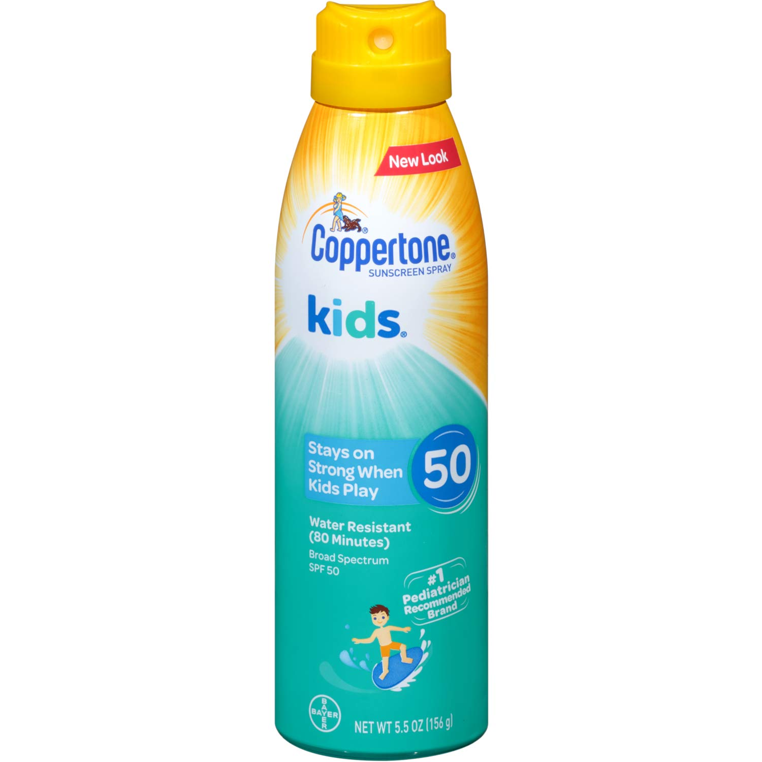 Coppertone Kids Sunscreen Continuous Spray Broad Spectrum SPF 50, 5.5 Ounces Each (10) by Coppertone defend (Image #1)