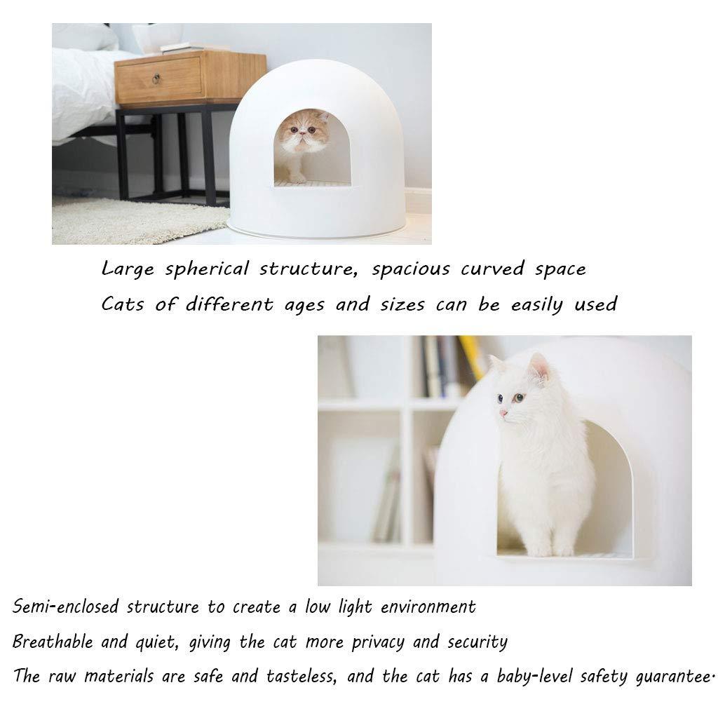 Completamente Cerrado Iglú Caja De Arena Cat Aseo Gato Orinal Desodorante Anti-Salpicaduras para Mascotas Suministros: Amazon.es: Productos para mascotas