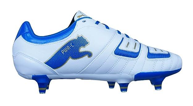 PUMA powercat 3.12SG Jr Niño Botas De Piel Para Fútbol / cleats-white-4: Amazon.es: Zapatos y complementos