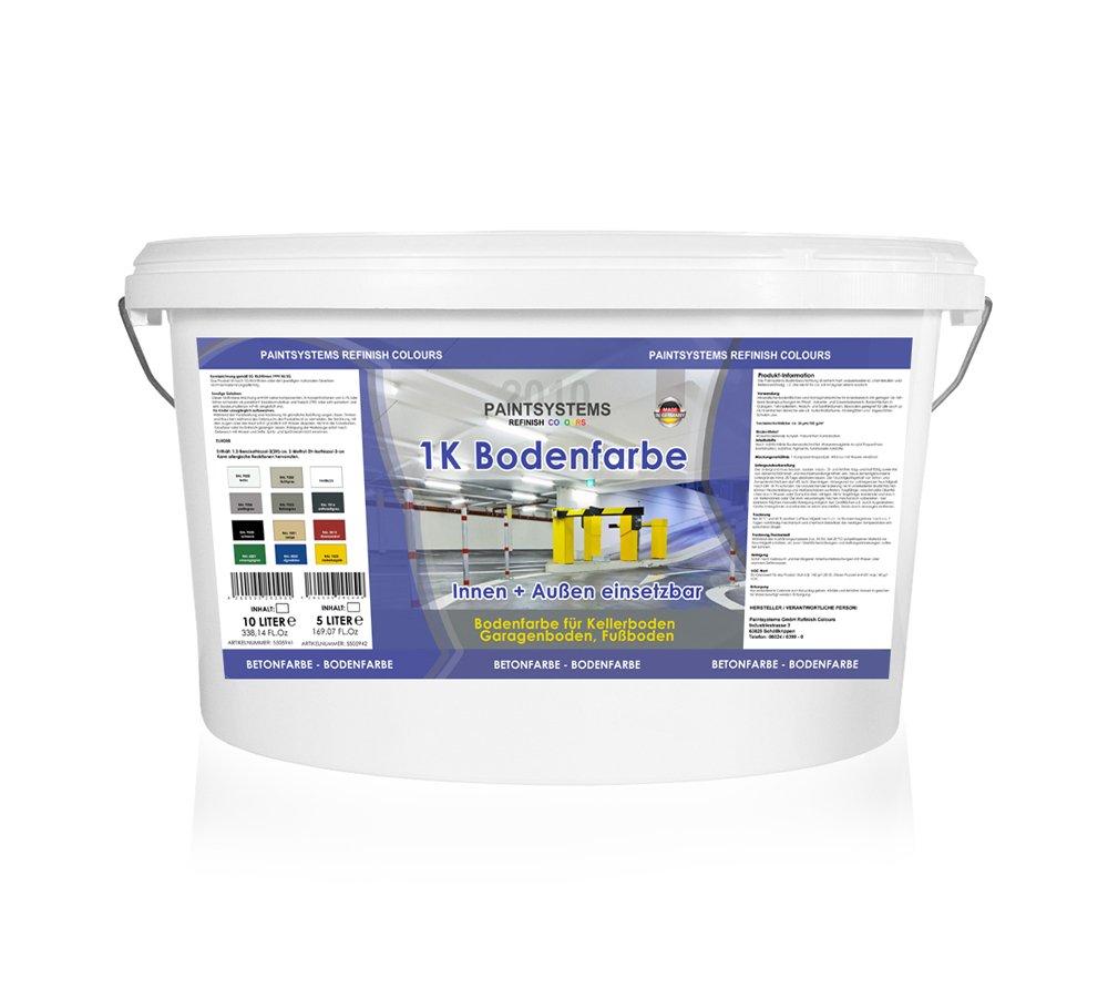 5l 1k Wb Bodenfarbe Betonfarbe Garagenfarbe Bodenbeschichtung