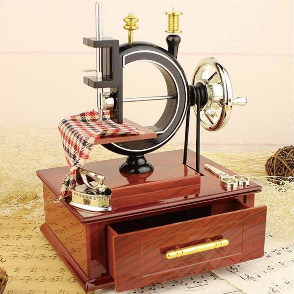 TcooLPE Retro clásico Vintage máquina de Coser Modelo Antiguo Caja ...
