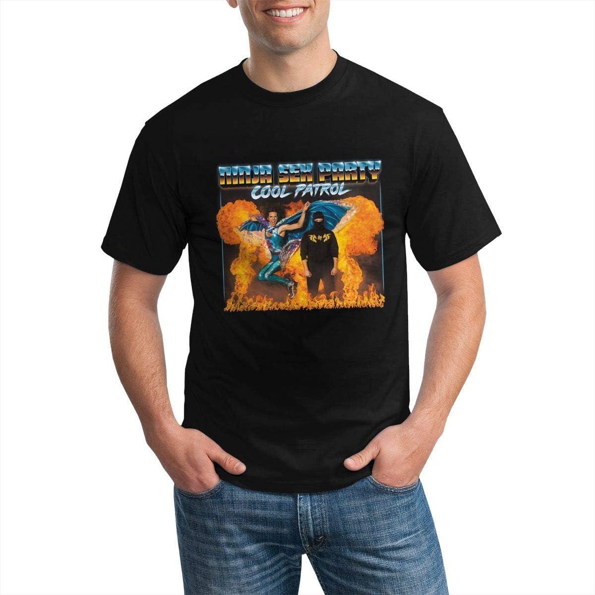 Ninja Sex Party T Shirt Men's Stylish Short Sleeves Round Neck T Shirts