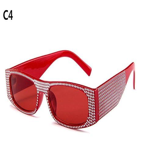 Yangjing-hl Pequeñas Gafas de Sol cuadradas imitaciones de ...