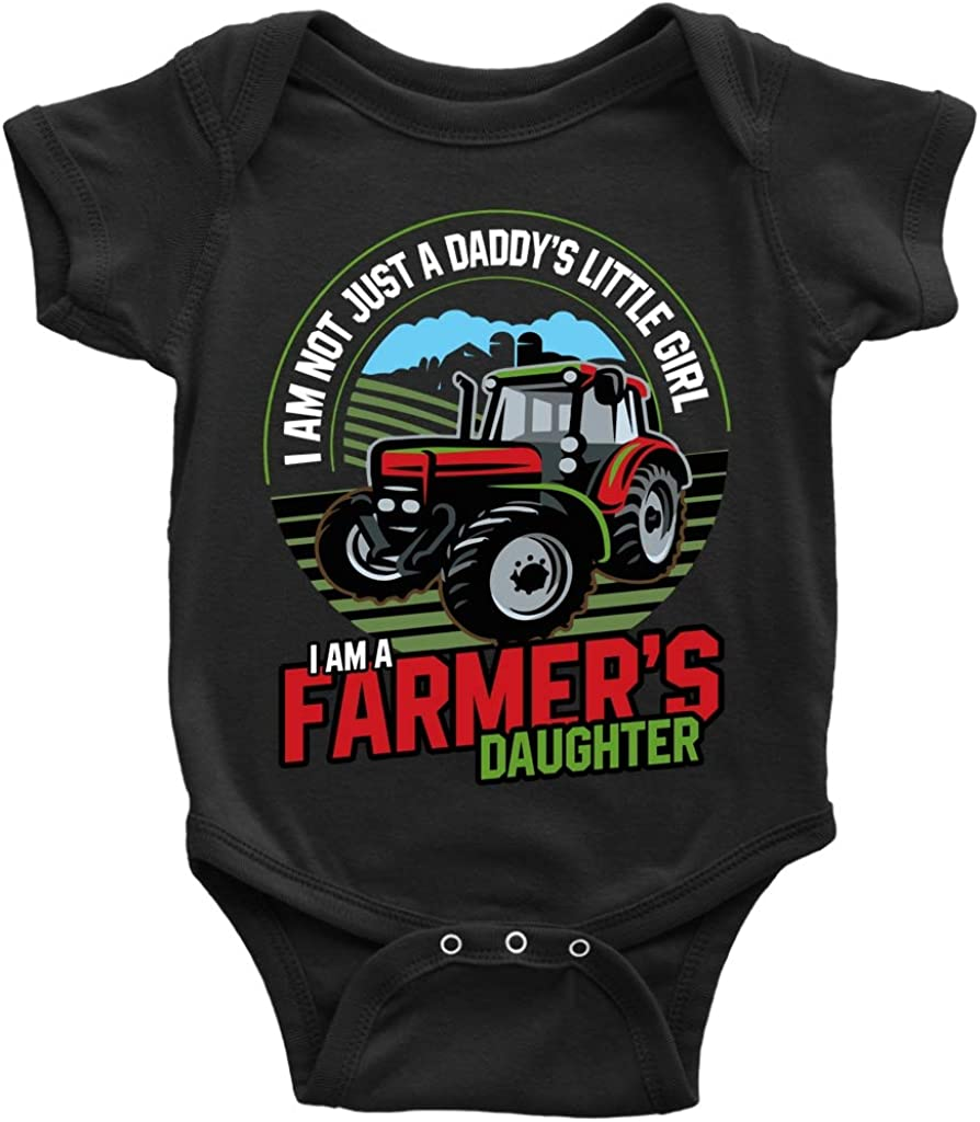 Keep Calm and Farm On Infant Kids Youth Shirt Farming Tractor Baby Toddler
