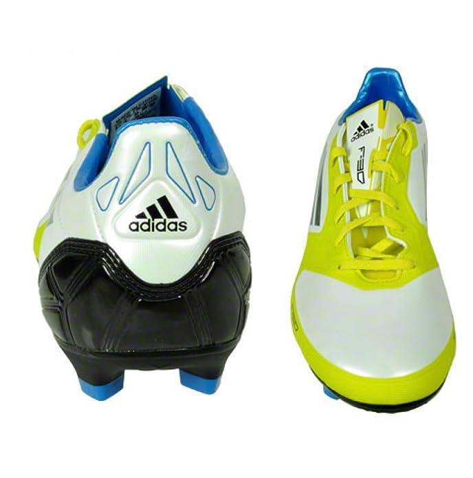 brand new 1bb0e 19b65 adidas F30 TRX FG Blanc Jaune Bleu Homme Chaussure Foot F50 T39 13  Amazon.fr Chaussures et Sacs