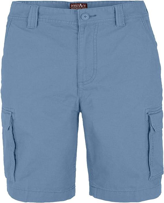HERREN Sommer Kariert 6 Taschen Jungen Combat Cargo Zip Fly Suit Shorts Größe 32
