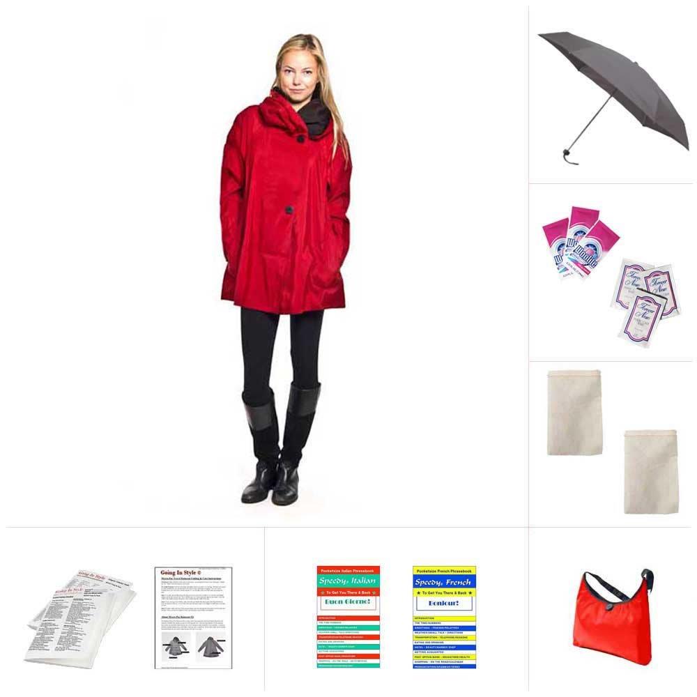 Mycra Pac Raincoat - Mini Donatella - Red by Mycra Pac