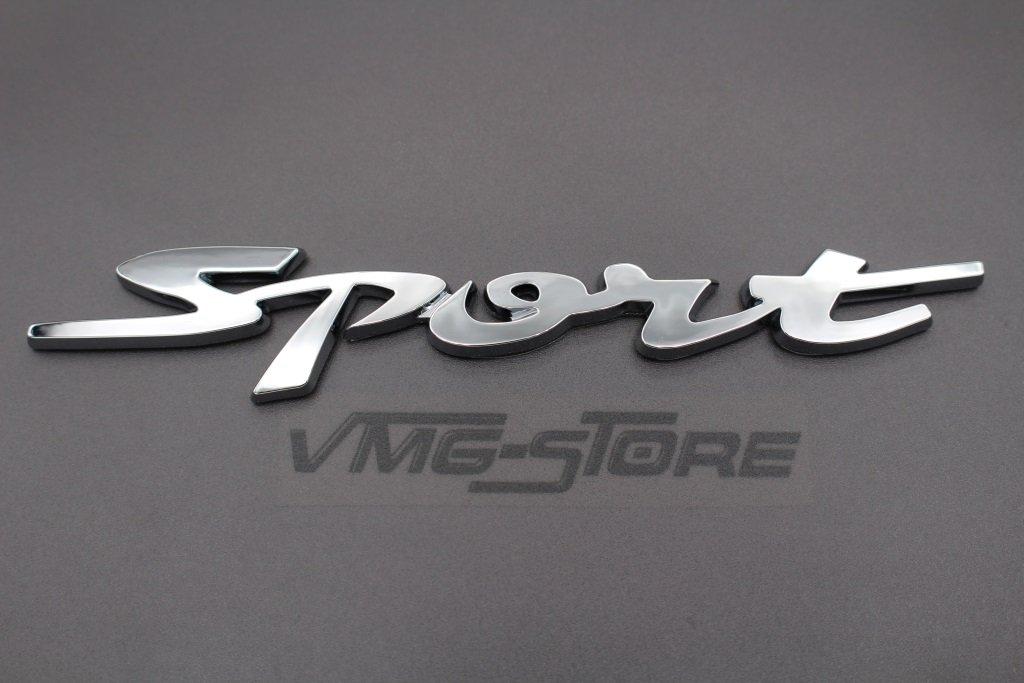 3D Sport Emblem Rot ABS Kunststoff mit Schaumstoff-Kleber/ückseite Badge von VmG-Store