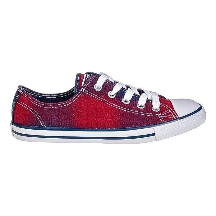 Converse All Stars Dainty Plaid Sneaker (Chili/Night) - 35.5 7egk4