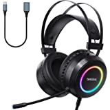Targeal 4 Mode 7.1 Surround Sound Gaming Headset for PS4 PC Laptop Tablet Mobile, Over Ear Wired Gaming Headphones with USB A