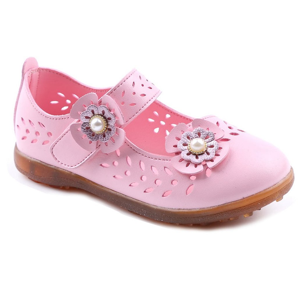 Girls Sandals Summer Hot Water Flower Princess Closed-Toe Anti-Slip Outdoor Sport Casual Walke Shoes